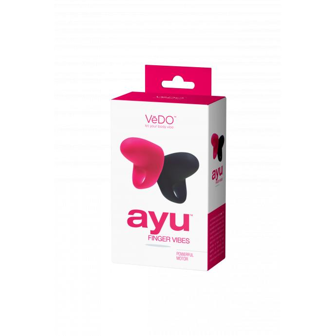 [免送貨費] VeDO Ayu Mini Finger Vibe Set 情趣按摩器 (黑色&桃紅色) VI-F0209